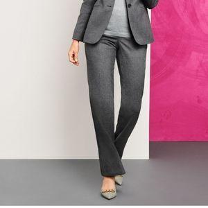 Talbots Windsor Italian Wool Flannel Gray Pant 16W